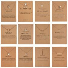 Women I Love You Pendant Necklace Gold Clavicle Chains Choker Card Jewelry Gift