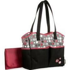 NEW - Graco Dotastic 7 Pocket Diaper Bag Tote Spacious Carry All Changing Pad