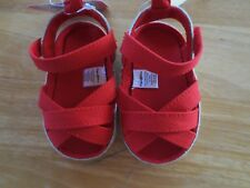 NEW Girl Infant *3-6* or *6-9** months STEPPING STONES Red Shoes Sandals NWT!