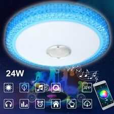24W APP Bluetooth Speaker Music Play LED Modern Ceiling Light RGB Dimmable Lamp