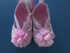 Girl Infant *3-6**6-9**9-12* months STEPPING STONES Pink Flower Shoes Sandals