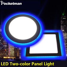Ultra-Thin Round/Square LED Panel Ceiling Light Recessed Ceiling Down 450-2150LM