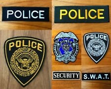 Police Symbol Logo Sew/Iron On Patch Embroidered Applique