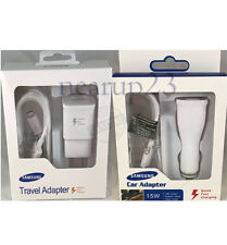 OEM Samsung Galaxy S6 S7 Note 4 5 Fast Charging Dual USB Car/Wall Charger+Cable
