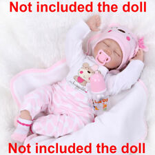 """22"""" Baby Reborn Baby Girl Doll Clothes Newborn clothing set Not Included Doll US"""