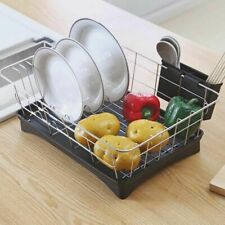 Kitchen Storage Drying Rack Stainless Steel 3 Piece Set Removable Utensil Holder