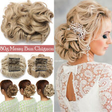 Elastic Hair Scrunchie Bun Comb Curly Wavy Bun Hairpiece Hair Extension Home DIY