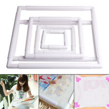 JN_ DV_ Plastic Frame Embroidery Cross Stitch Sewing Stand Lap DIY Accessories