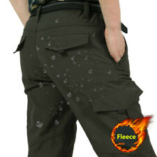 Outdoor Men Tactical Cargo Fleece Pants Quick Dry Hiking Trekking Combat Trouser