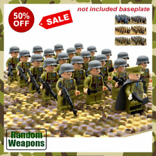 21PCs/set WW2 Wars Army Soldiers Minifigures Troops Military Legiong Blocks NEW