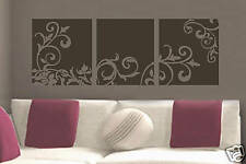 Decor flower paneling Vinyl Wall Lettering Word Sticky