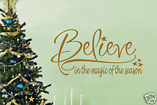 Believe in Vinyl Wall Lettering Words Sticky Christmas