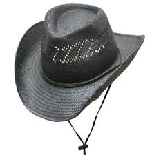 New! Shapeable Straw Hat - Chin Strap - Western Outback