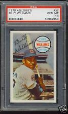 1970 BILLY WILLIAMS Chicago Cubs HOF Kelloggs #37 - PSA 10 (GEM MINT)