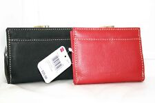 Designer MUNDI Mini Wallet Ladies Leather French FRAME RED or BLACK GIFT $30
