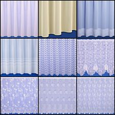 CHOICE OF 6 CONTEMPORARY NET CURTAINS SOLD BY THE METRE