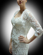 Red Carpet White Beaded Lace Evening Dress Size 12 - 20