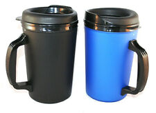 2 Foam Insulated 20 oz. Thermo Serv Travel Coffee Mugs