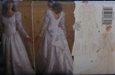 3239 Vintage Butterick Sewing Pattern Elegant Wedding Gown Dress Bridal UNCUT