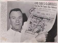 Baltimore Orioles Hank Bauer Named 1966 Manager of Year - News Photograph