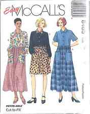 8465 UNCUT McCalls SEWING Pattern Misses Loose Fitting Front Button Dress Easy