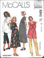 8342 UNCUT McCalls SEWING Pattern Maternity Dress Top Pants Capris OOP SEW