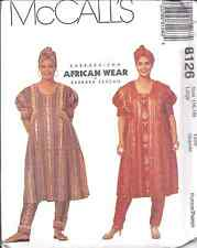 8126 UNCUT VINTAGE McCalls SEWING Pattern Dress Pull on Pants Headwrap African