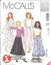 8099 UNCUT McCalls SEWING Pattern Misses Pull on A Line Double Tiered Skirt OOP