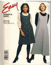 UNCUT McCalls Pattern Easy A Line Jumper 8319 SEWING FF