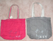 American Eagle Printed Tote Bag Purse Red Or Gray **