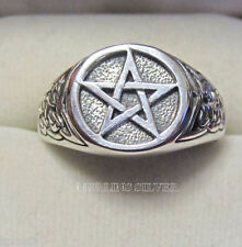 PENTAGRAM RING 6grams of SOLID STERLING SILVER pentacle