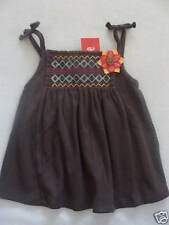 Gymboree JUNGLE GEM Brown Tropical Smocked Flower Swing Tank Top Shirt NWT