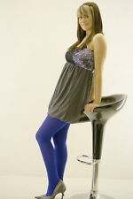 40 Denier Opaque Tights Blue or Purple