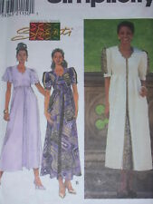 "SIMPLICITY 7955 LADIES PRETTY ""SHANTI"" SWEETHEART NECKLINE DRESS PATTERN 8-24uc"