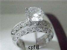 2.25Ct Engagement Wedding Ring Set Sz 5 6 7 8 9 925 Sterling Silver