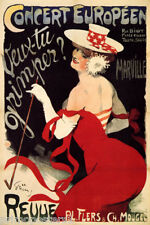 FRENCH GIRL DANCE SHOW CONCERT MOULIN ROUGE PARIS FRANCE VINTAGE POSTER REPRO