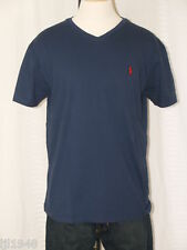 Polo Ralph Lauren V-Neck Navy T-shirt Polo Pony M L XL XXL NWT