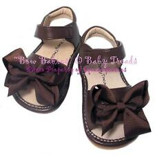 Squeaky Shoes Add A Bow Brown Sandal Brown Bows
