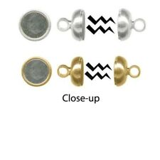 1 OR 12 Silver Plated or Gold Plated  Magnetic Clasps   *260 Gauss  *Strong