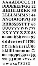Ceramic Decals Graphic Alphabet Numbers Many Style/Size