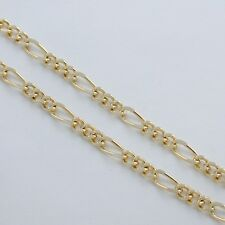 "BUBBLE FIGARO GOLD EP CHAIN BRACELET 7"" or 8"""
