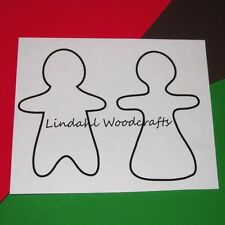 Gingerbread Couple Flat Unfinished Wood Cut Outs Craft Variety Sizes GC91016