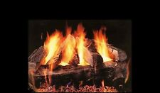 "30"" Baypointe Vented Fireplace Gas Logs COMPLETE Safety Pilot and Remote NG LP"