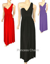 Black Red Purple Formal Evening Cocktail Dress One Shoulder Size 24 to 12 New