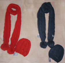 Abercrombie & Fitch Heritage Knit Scarf & Cozy Winter Hat Set NWT **