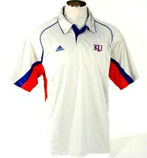 Adidas ClimaCool Kansas University Short Sleeve Gray Polo Shirt Mens NWT
