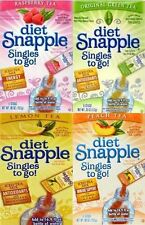 Diet Snapple ON THE GO Drink Mix Peach Raspberry Lemon Green Tea ~ 4 FLAVORS