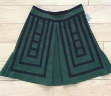 Wool-Blend Tsuga Skirt By Maeve Size 0 Moss Color NW ANTHROPOLOGIE Tag