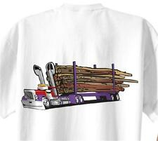 Peterbilt Logging Truck Cartoon T-shirt #1038 semi timber log hauler