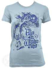 CHESHIRE CAT Vintage Alice in Wonderland on American Apparel Ladies 2102 T-Shirt